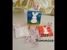 DIY Origami bunnies and bunny painting