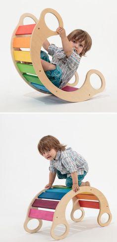 Rainbow Rocker          #kids #furniture