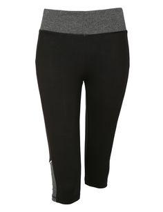 LE3NO Womens High Rise Knee Length Yoga Capri Pants with Pocket