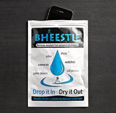 Bheestie Bag - um Gadgets zu trocknen.