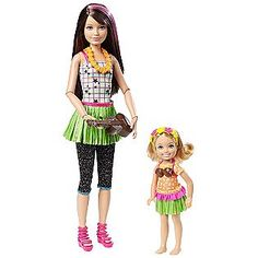 Sisters Hula Dance - Barbie Gift Set - I finally found this!  There was a huge Toys R Us while in route on my vacation.  I had to have it!  Skipper has a uklele and Chelsea has a coconut bra!  Very Cute and Rare Set!