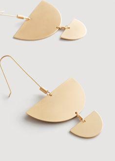 metal pendant earrings   Clothing for Women   MANGO USA