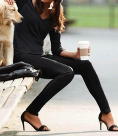 simple black chic