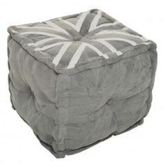 1 Floor Cushions, Outdoor Furniture, Outdoor Decor, Ottoman, Flooring, Stools, Grey, Home Decor, Fabric