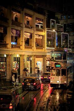 Hong Kong in the rain