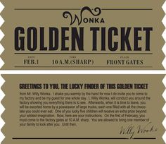 Golden Ticket (Charlie and the Chocolate Factory)