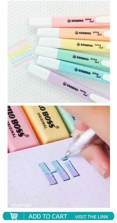 Bullet Journal School, Pens For Bullet Journaling, Bullet Journal Dot Grid, Bullet Journal Banner, Bullet Journal Writing, Bullet Journal Highlighters, Bullet Journal Markers, Japanese School Supplies, Cool School Supplies