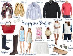 Preppy On a Budget Preppy Basics, Style Preppy, Preppy Essentials, Fashion Essentials, My Style, Preppy Style Winter, Preppy Brands, Prep Fashion, Shopping