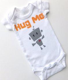 hug me robot onesie