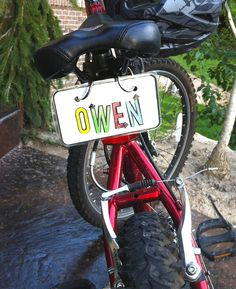 Licence plate for the kids bikes!