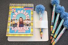 Kit Bloquinho Carrossel + Mini lápis