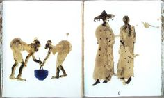 %Titulo_ant% (Miquel Barcelo) Miquel Barcelo, Visual Diary, Naive Art, Black Art, Watercolor Paintings, Sketches, Sketch Books, Christmas Ornaments, Holiday Decor