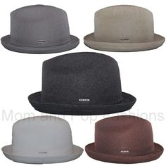 440139dd248 Authentic Kangol Tropic Player Fedora Trilby Hat Cap 6371BC S-XL  Kangol   FedoraTrilby