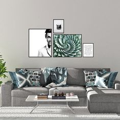 Mint and Gray Gallery Wall, Set of 4 Prints, Boys Room Decor, Inspirational Quote, Wall Art Set, Wall Decor, Wall Art Set, Digital Download