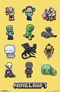 Minecraft Characters 34x22.5 Video Game Gamer Art Print Poster Trends International http://www.amazon.com/dp/B0181FTWKE/ref=cm_sw_r_pi_dp_E7Dswb1942D41