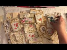 Pockets, tuck spots and altered paper clips embellishments for Junk journal - YouTube