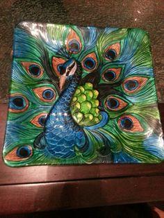 Peacock dish from hobby lobby!