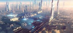 The Making of a Sci-Fi cityscape By Christian Hecker