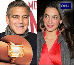 George Clooney proposes with 7-carat engagement ring!