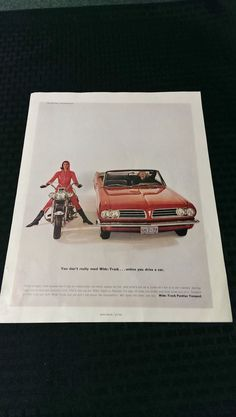 Vintage AD Pontiac Tempest Wide-Track Gift Ideas by MegsEndeavors