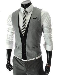 Tattee Boy Clothes | Men\'s layered style 3 button vest
