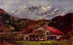 Gustave Courbet. A hut in the mountains. 1874
