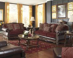 Signature Design by Ashley Weslynn Place Burgundy Sofa ...