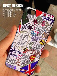 One Direction Collage Art for iPhone 4 / 4s or 5 case cover, Black or White