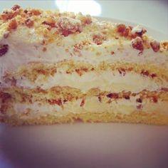 Saftig Krokankake med smørkrem og vaniljekrem Tart Recipes, Baking Recipes, Sweet Recipes, Norwegian Food, Norwegian Recipes, Scandinavian Food, Pudding Desserts, Pastry Cake, Something Sweet