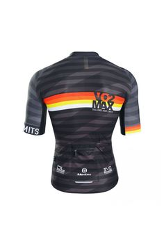 No better than some sunset colours to brighten up a black jersey