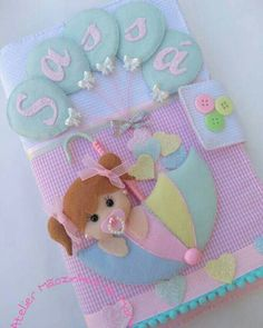 Capas Baby Shawer, Baby Kit, Baby Room Diy, Baby Room Decor, Baby Shower Crafts, Baby Shower Decorations, Felt Crafts, Diy And Crafts, Art N Craft