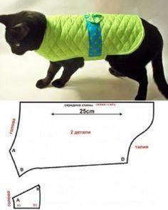patrones de ropa para gatos y perros # costura # costura - швейка - Cunas para Perros Small Dog Clothes, Pet Clothes, Dog Clothing, Pet Coats, Son Chat, Dog Clothes Patterns, Dog Pattern, Dog Sweaters, Diy Stuffed Animals
