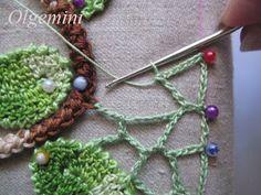 Crochet em circulação: Crochet irlandês. Mesmo borda de rede irregular. Master Class de Olgemini.
