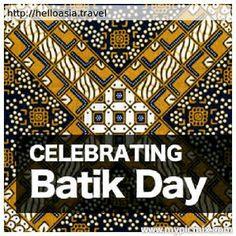Celebrating Batik Day, Indonesia.  http://helloasia.travel