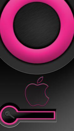 Crisp Pink and Black Lockscreen