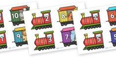 Twinkl Resources >> Bonds to Ten# >> Printable resources for Primary, EYFS, and SEN. Thousands of classroom displays and teaching aids! Train Activities, Preschool Activities, Maths Resources, Number Bonds To 20, Trains Preschool, Math Made Easy, Transportation Unit, Teaching Aids, Primary Teaching