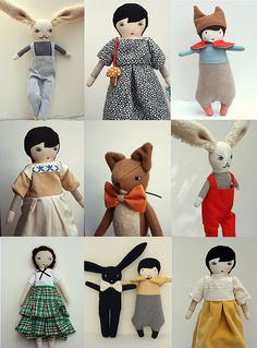 Lovely #Handmade #doll collection