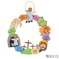 """Religious Easter Wreath Craft Kit - drawings easy Easter """"Colors of Faith"""" Egg Craft Kit Egg Crafts, Bible Crafts, Easter Crafts For Kids, Easter Story For Kids, Easter Stories, Couronne Diy, Christian Crafts, Christian Easter, Easter Religious"""