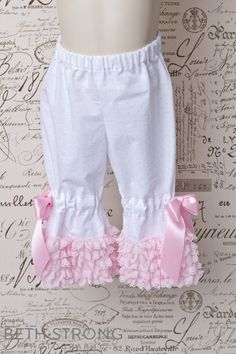 Ruffle Bloomers 5 to choose from.. $29.95, via Etsy.