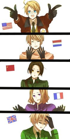 Hetalia Allies America Russia China England France