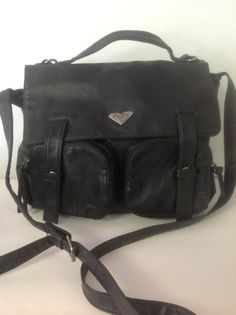 Roxy Messenger Bag Black Crossbody Designer Business School  Hip Fashion