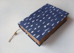 raindrops journal antique diary notebook blank book old by Patiak, $25.00