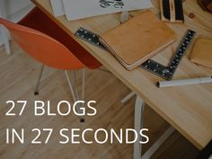 [Template] How to Generate 27 Blog Post Ideas in 27 Seconds  http://marketeer.kapost.com/template-blog-post-ideas/#ixzz3QRXz7e1o