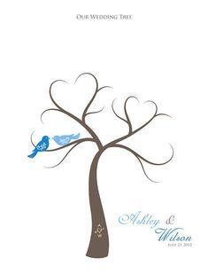 Thumbprint Wedding Tree Guest Book Alternative by TJLovePrints