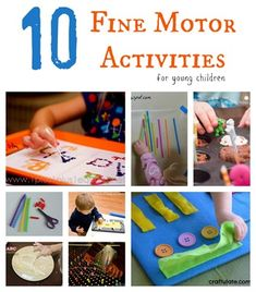 10 Fine Motor Activities for young children from Homeschool Creations- pinned by @PediaStaff – Please Visit  ht.ly/63sNt for all our pediatric therapy pins