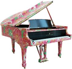 Lily Pulitzer baby grand piano.