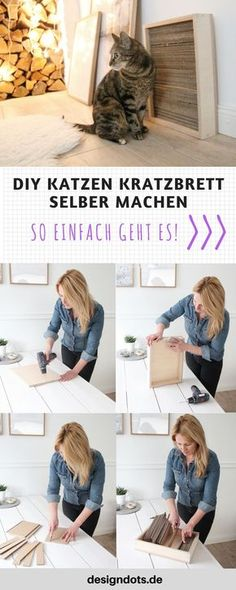 Make DIY cat scratching board yourself - DESIGN DOTS - DIY DIY scratch board make your own DIY cool cat furniture; Make cat furniture yourself, cat furnit - Diy Cat Bed, Cats Diy, Diy Bed, Lit Chat Diy, Cat Basket, Dog Furniture, Furniture Online, Cat Wall, Cat Scratching