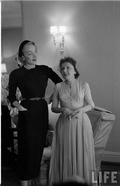 Marlene Dietrich and Edith Piaf (Allan Grant. 1952. LIFE) - photo via Campbells Loft fb page