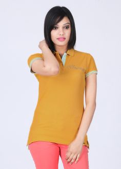 Being Human Clothing Solid Women`s Polo Neck T-Shirt