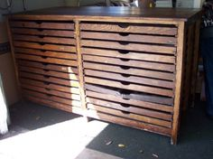 Vintage drawers.  I am searching for something like this to keep organized my lots of buttons